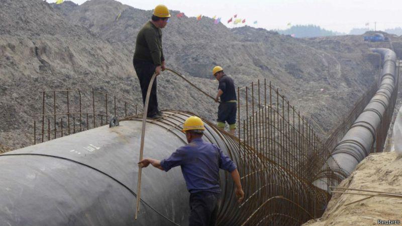 China realiza transposição de água do sul para abastecer Pequim. Foto: Reuters