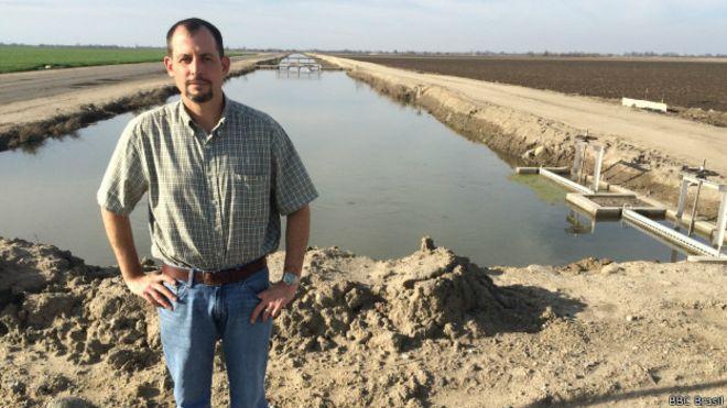 Cannon Michael reduziu sua área de plantação por causa da seca. Foto: BBCBrasil