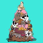 """Artista inglês mostra homem como """"rei do lixo e da destruição da natureza"""""""