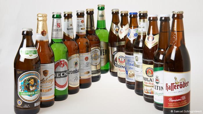 As cervejas testadas pelo Instituto do Meio Ambiente de Munique. Foto: DW