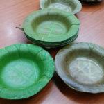 Universidade desenvolve pratos biodegradáveis feitos de folhas